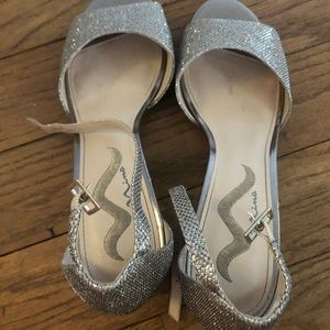 Champagne gold formal shoes size 10